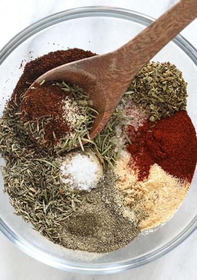 flavorful turkey seasoning in a bowl