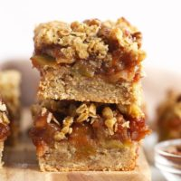 apple pie bars stacked