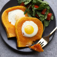 butternut squash egg in a frame
