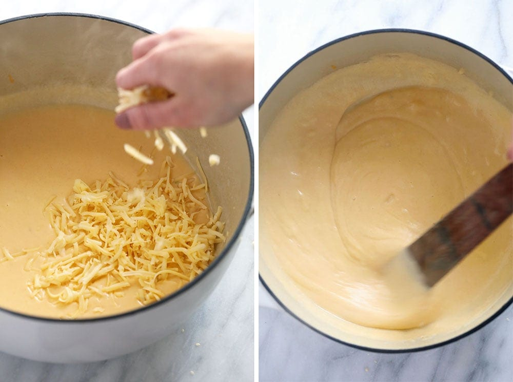 Making a mac and cheese cream sauce