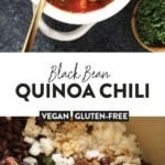 black bean quinoa chili recipe