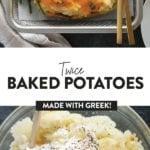 twice baked potatoes with greek yogurt