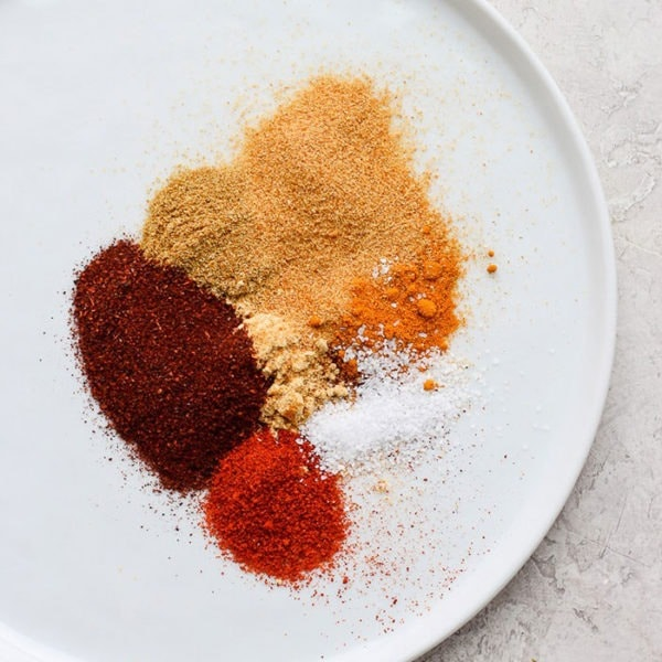 spices on a plate