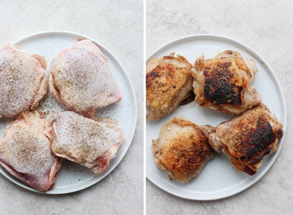 seasoned chicken thighs