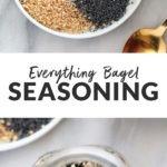 everything bagel seasoning on plate