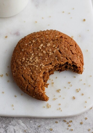 ginger cookie on plate