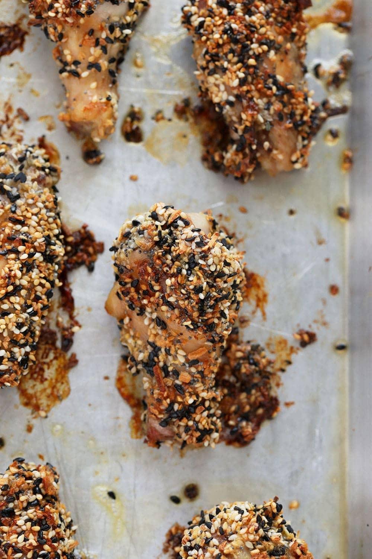 Everything bagel seasoning wings after baking