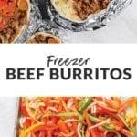 freezer beef burritos