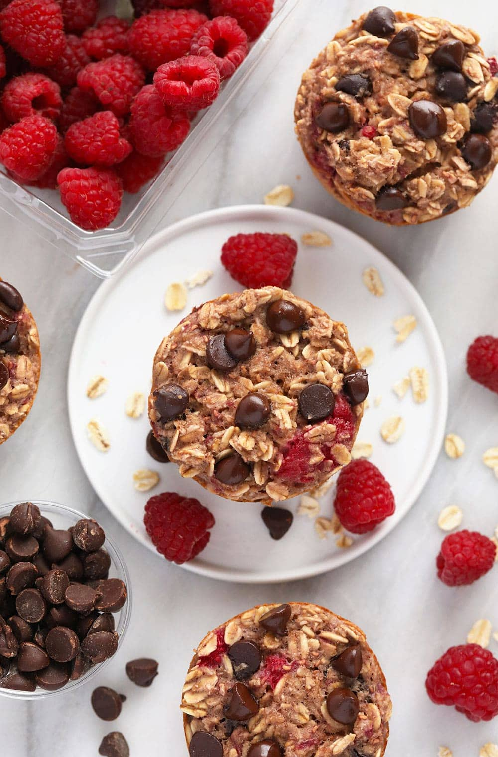baked oatmeal cups on plate