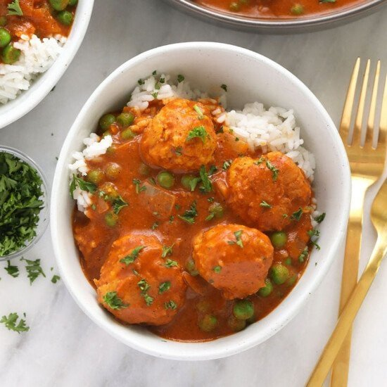 Tikka Masala Meatballs in a bowl