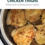IP Honey Garlic Chicken Thighs