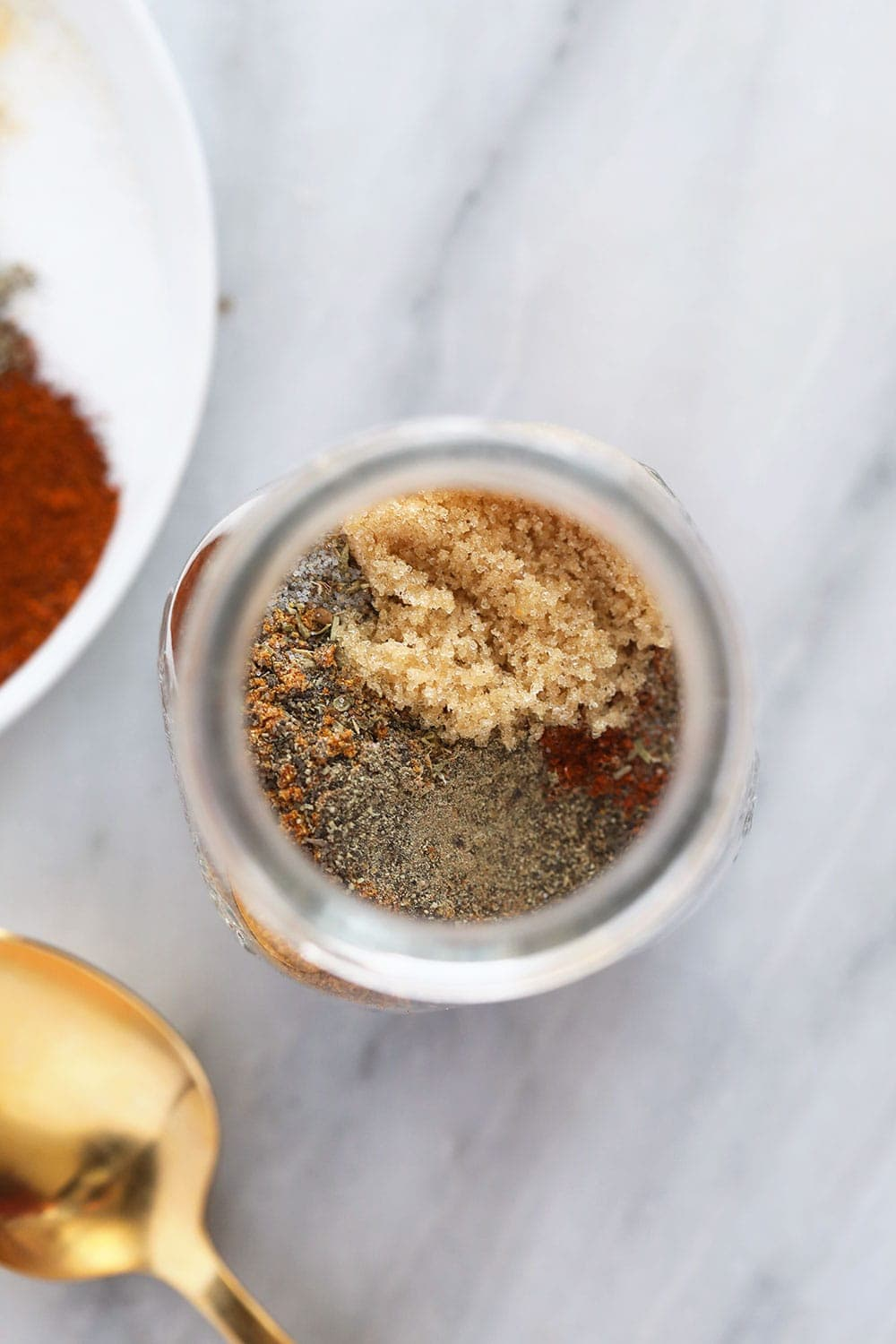 homemade cajun seasoning in a glass jar