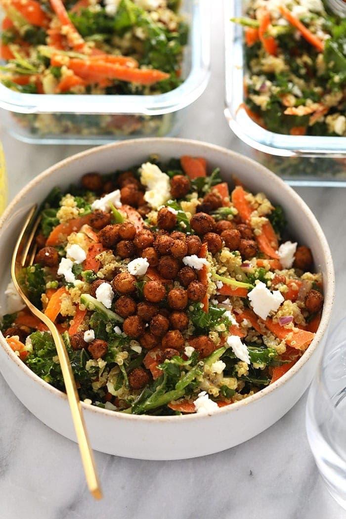 A bowl of Moroccan quinoa salad