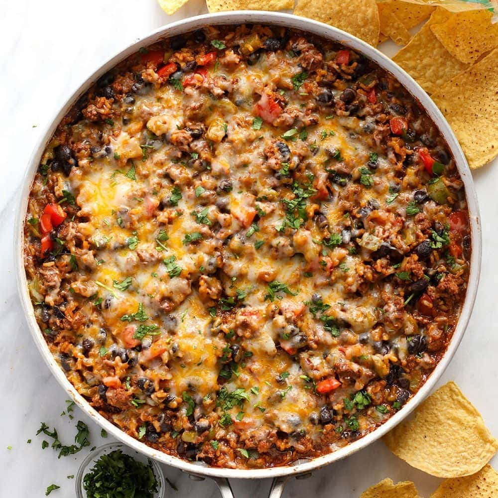 Mexican Beef Skillet More Ground Beef Recipes Fit Foodie Finds
