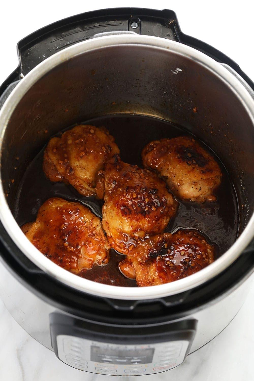 honey garlic chicken thighs in Instant Pot
