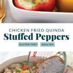 chicken fried quinoa stuffed peppers