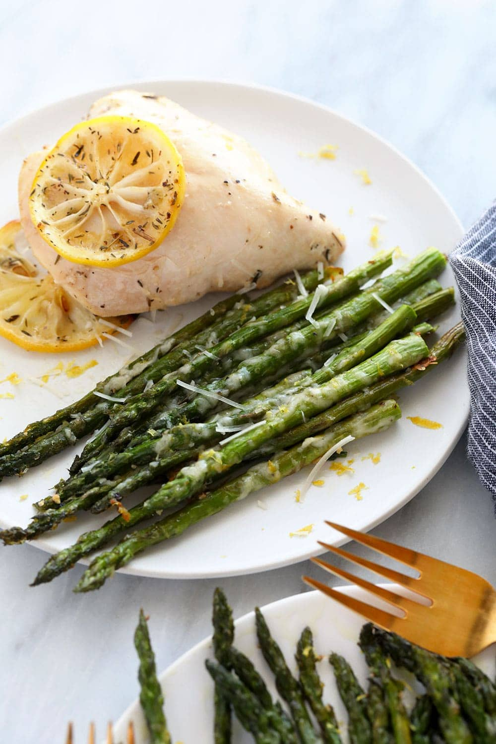 roasted asparagus with chicken breast