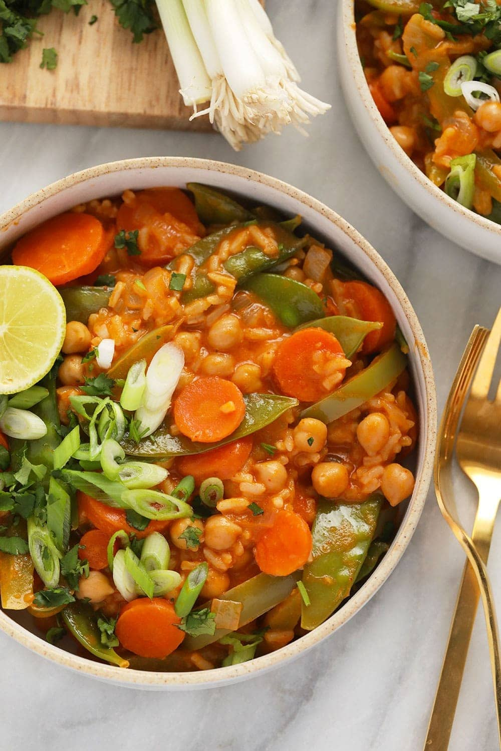 One pot vegetarian Thai curry in a bowl