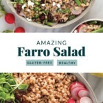 farro salad in bowl