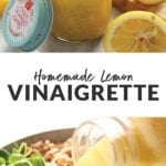 homemade lemon vinaigrette dressing