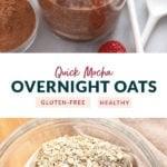 quick mocha overnight oats