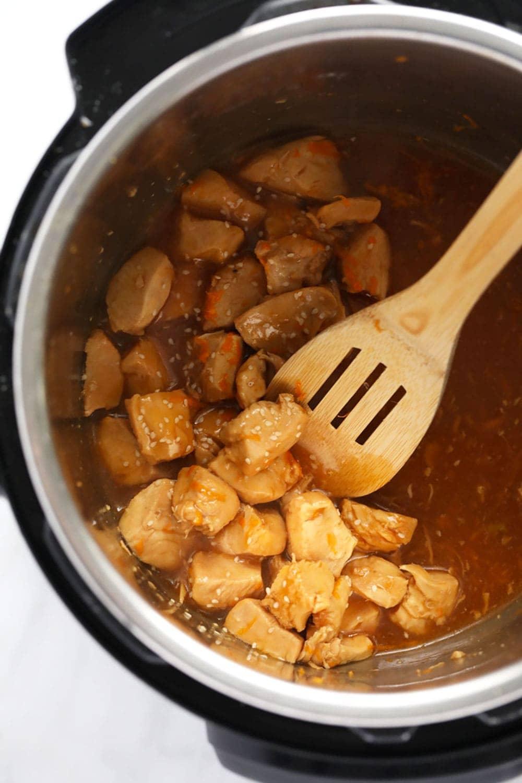 Orange Chicken in sauce in the Instant Pot