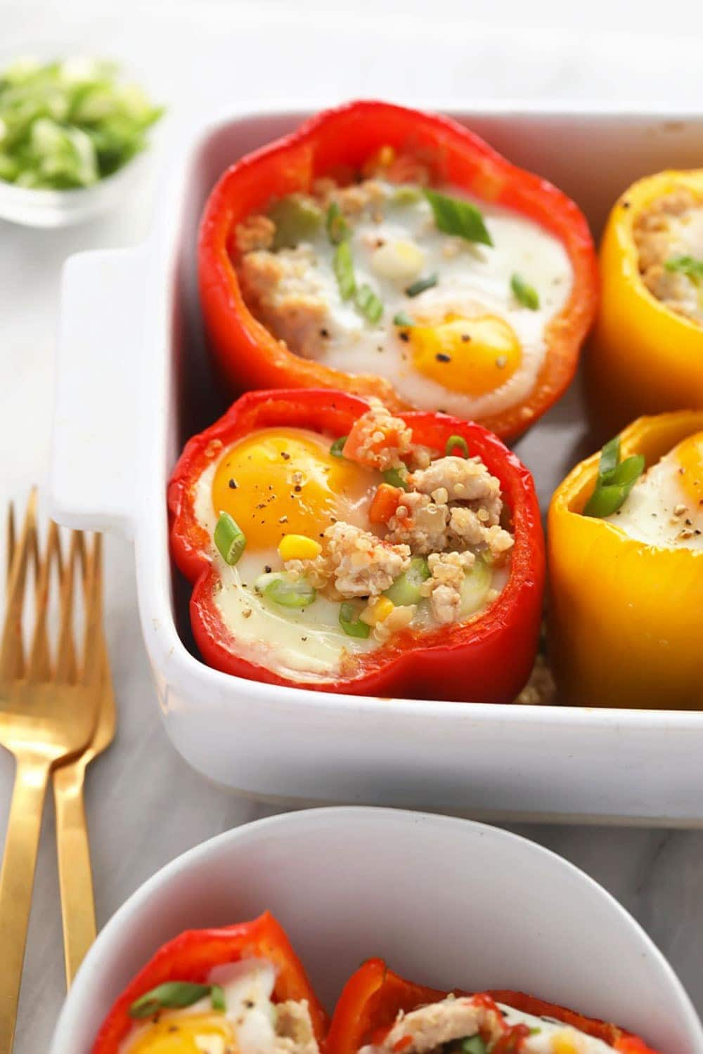 stuffed peppers with a baked egg