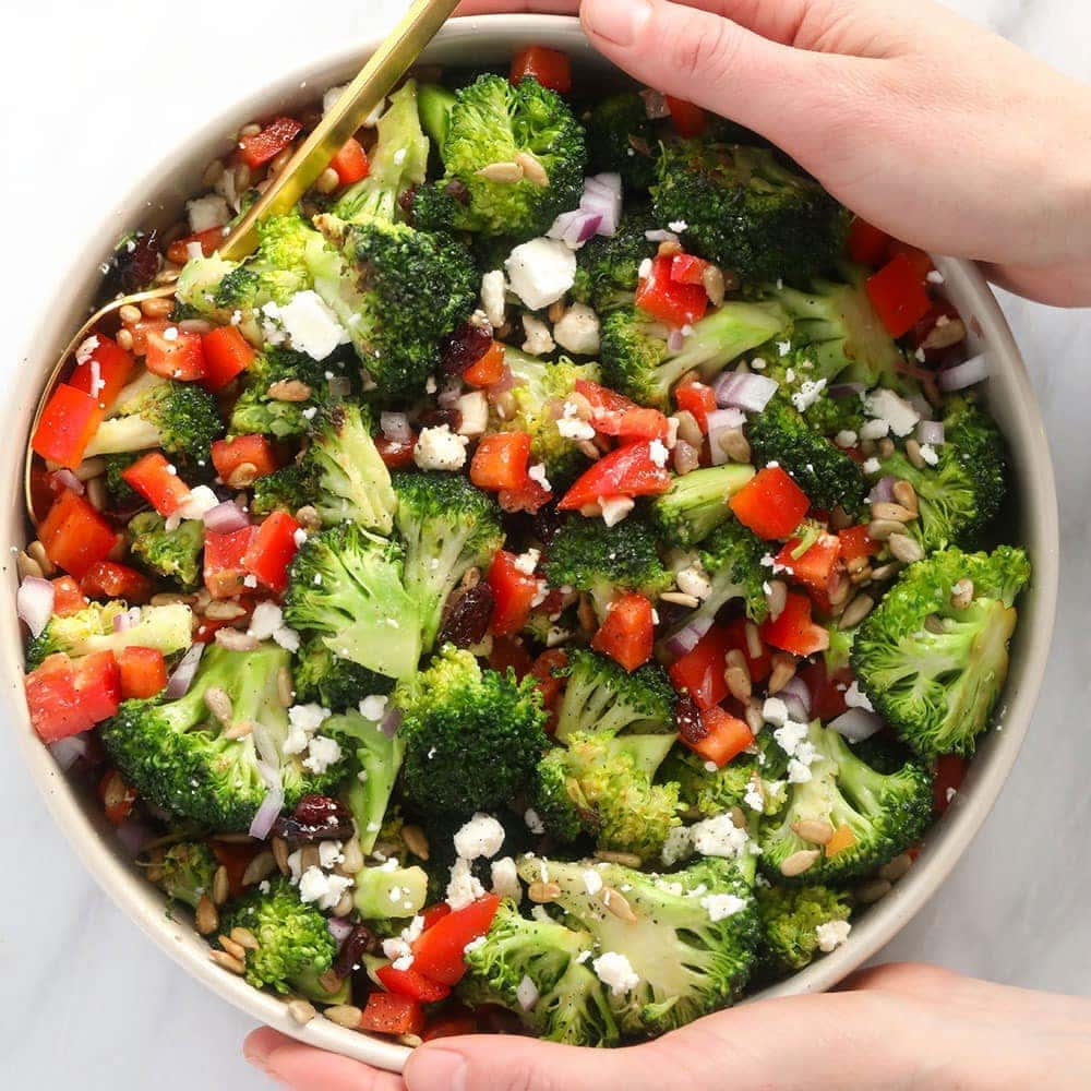 Broccoli Salad Made In 15 Minutes Fit Foodie Finds