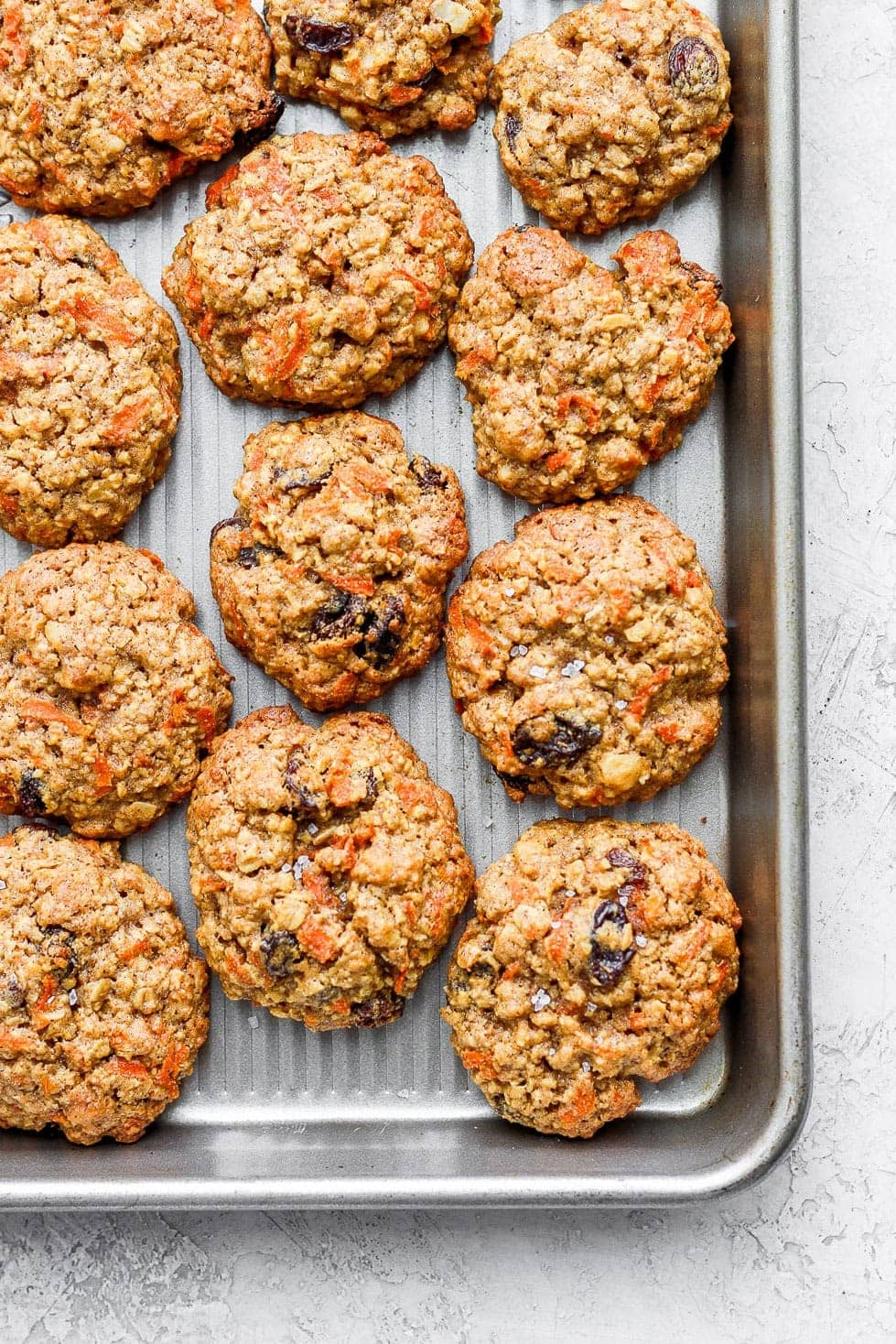 Baked carrot cake cookies