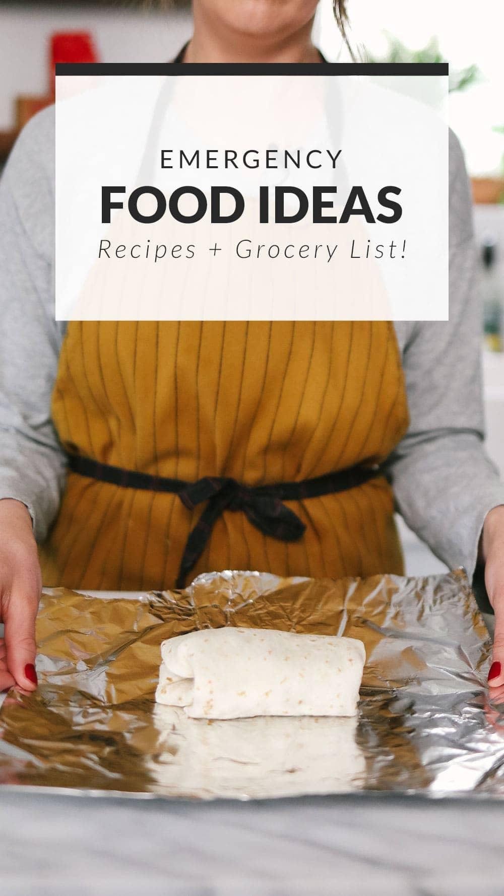 emergency food ideas