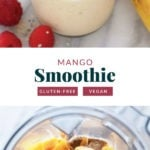mango smoothie recipe in a glass