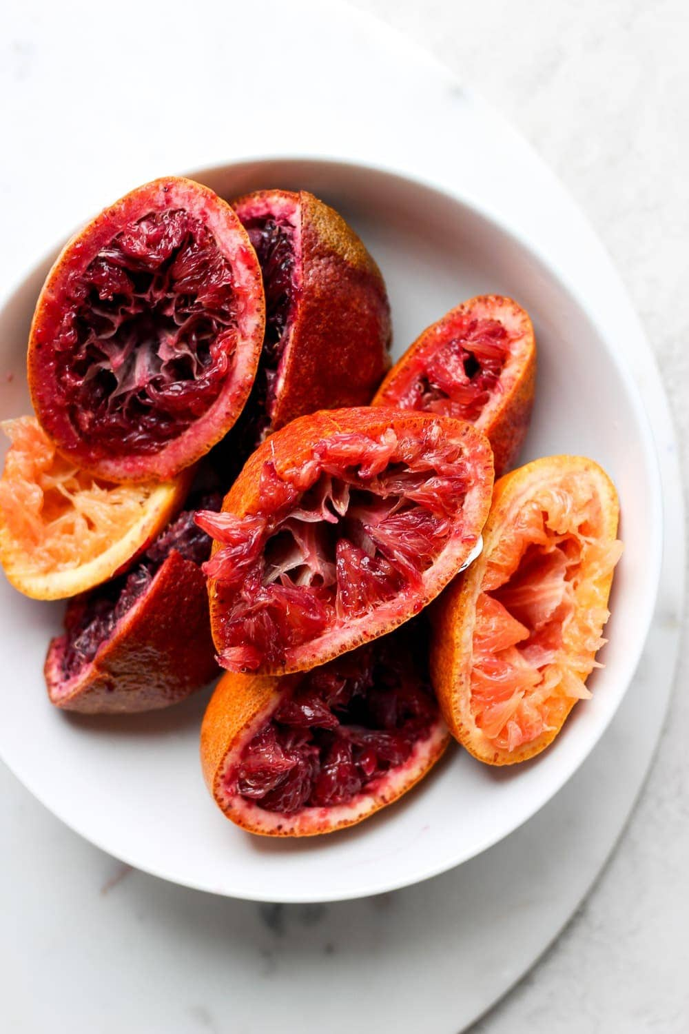 Juiced blood oranges