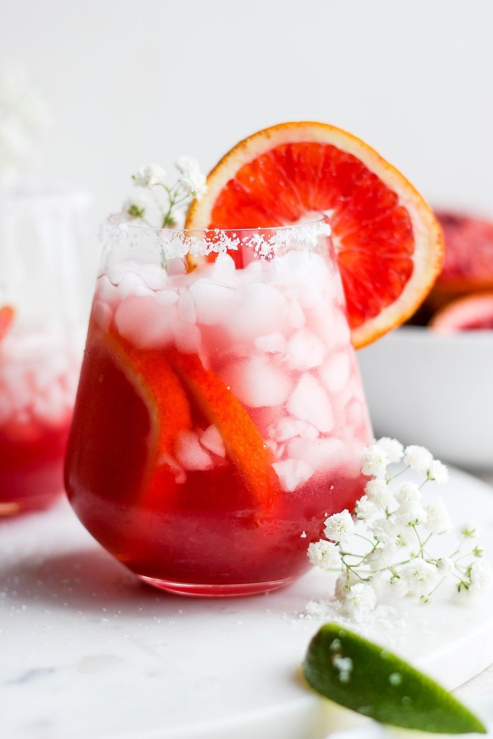 Blood Orange Margarita in a glass