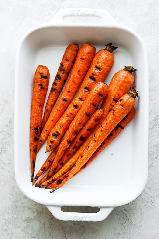 Roasted Carrots in Casserole