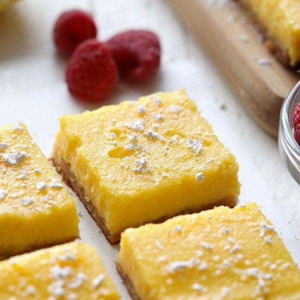 Healthy Gluten Free Lemon Bars