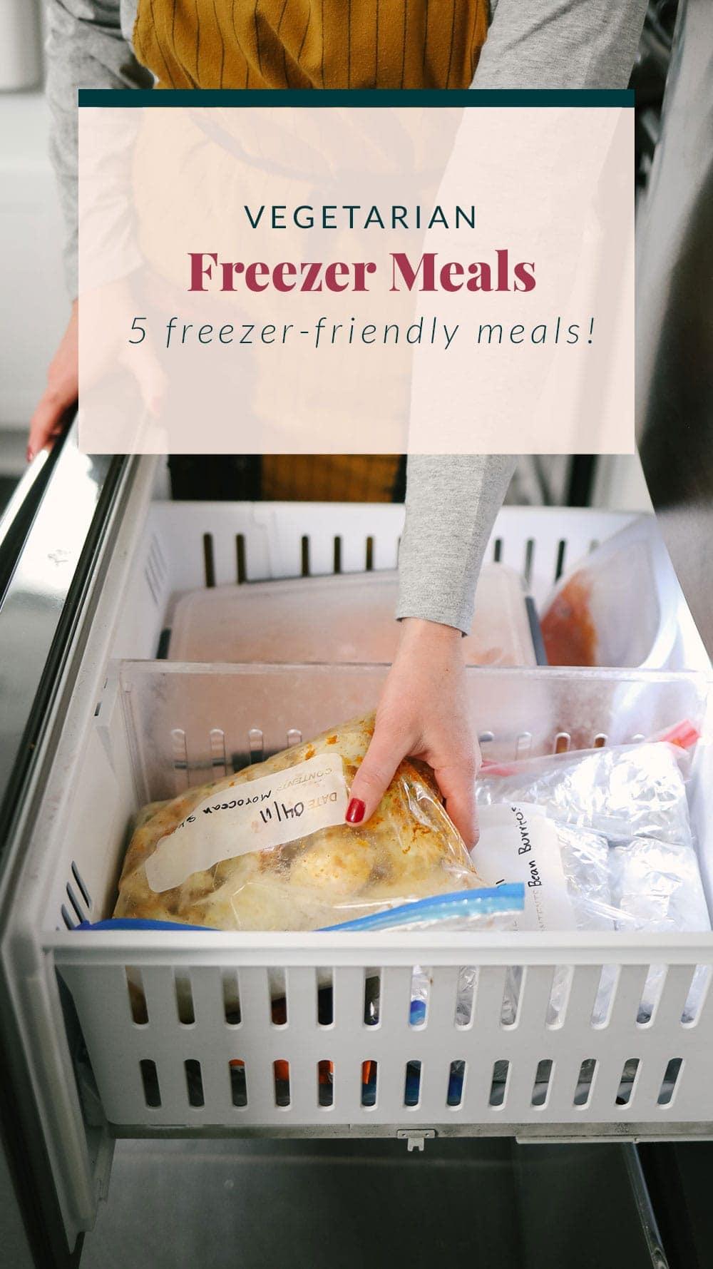 Vegetarian Meals in the freezer
