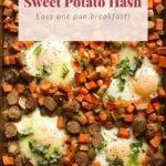 sheet pan sweet potato hash pin