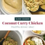 Step by step photos on how to make coconut curry chicken