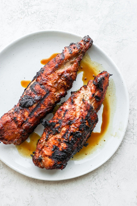 grilled pork tenderloin on plate