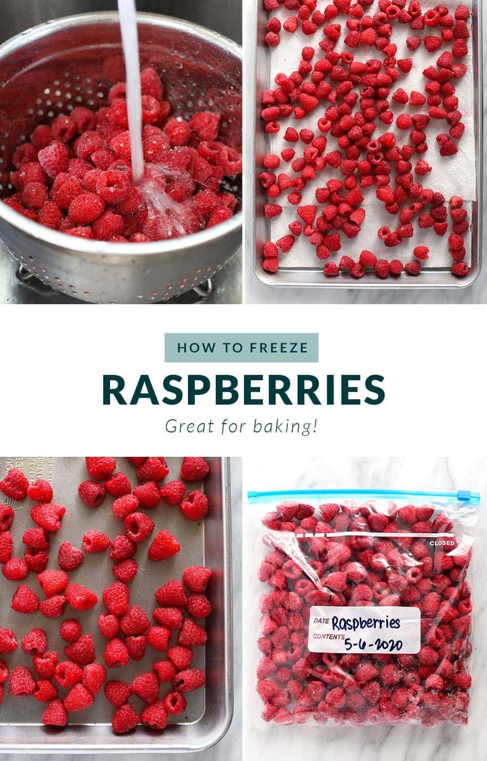 how to freeze raspberries step by step
