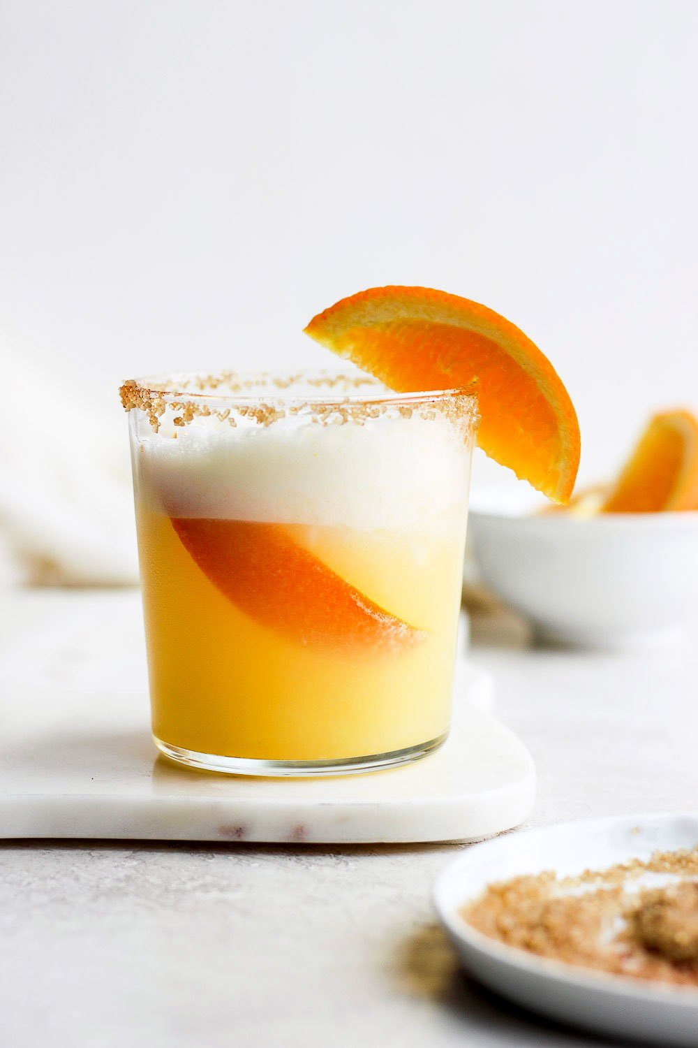 Orange cocktail in a glass