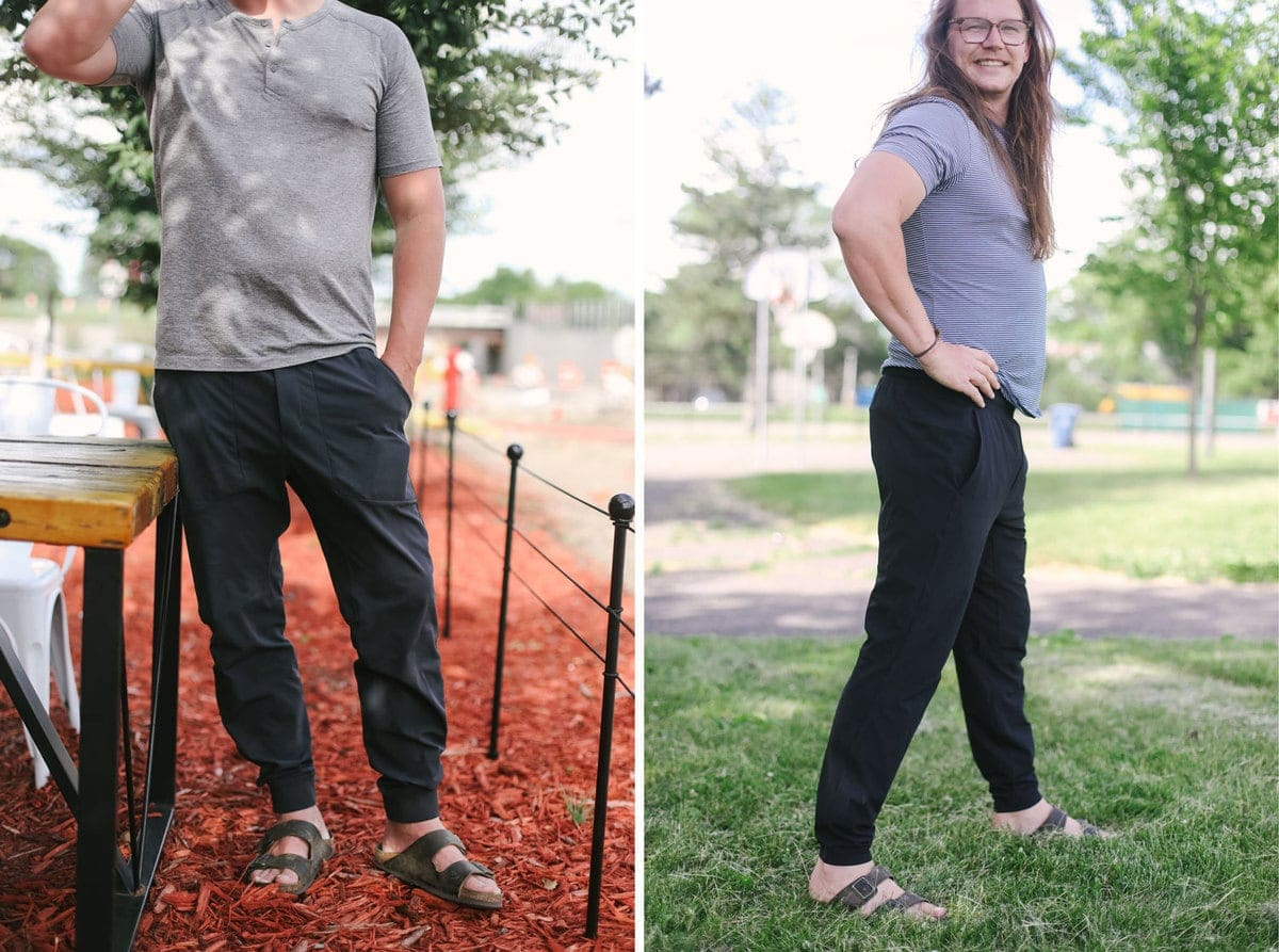 lululemon mens pants and joggers being sported by the fit foodie finds husbands