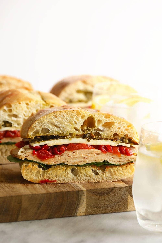 Sandwich on a cutting board
