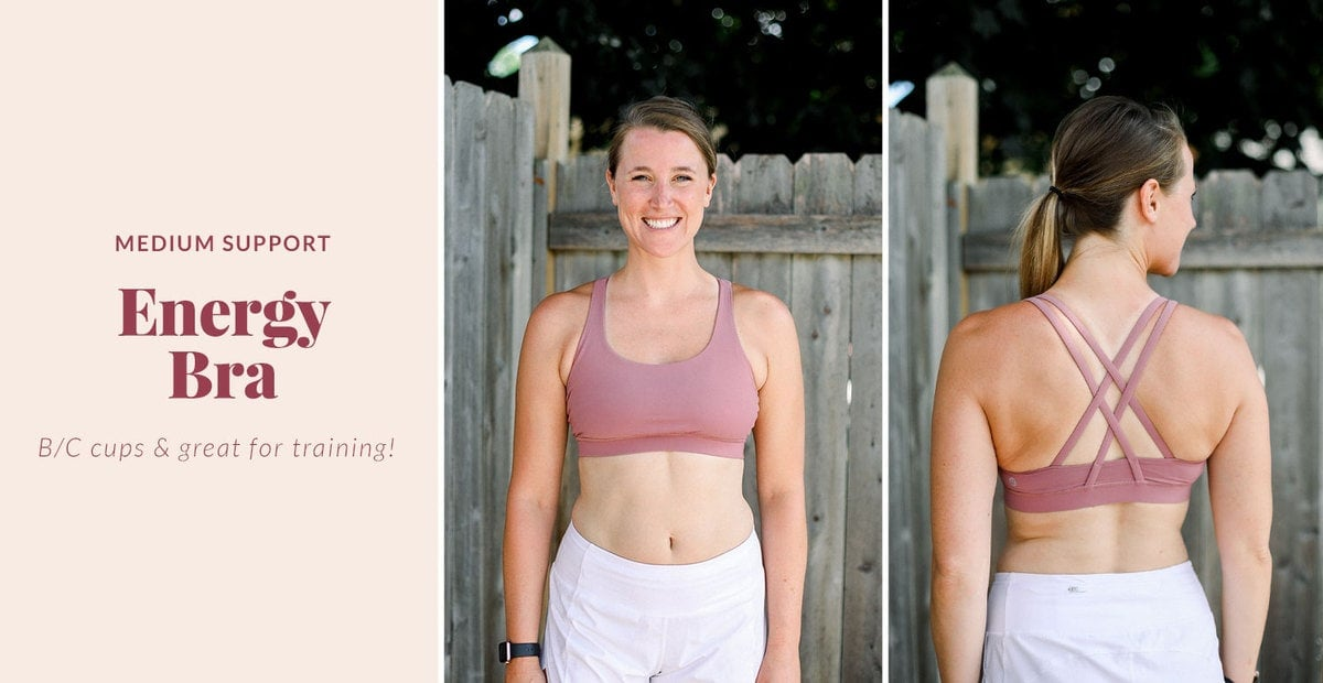 energy sports bra that's great for training