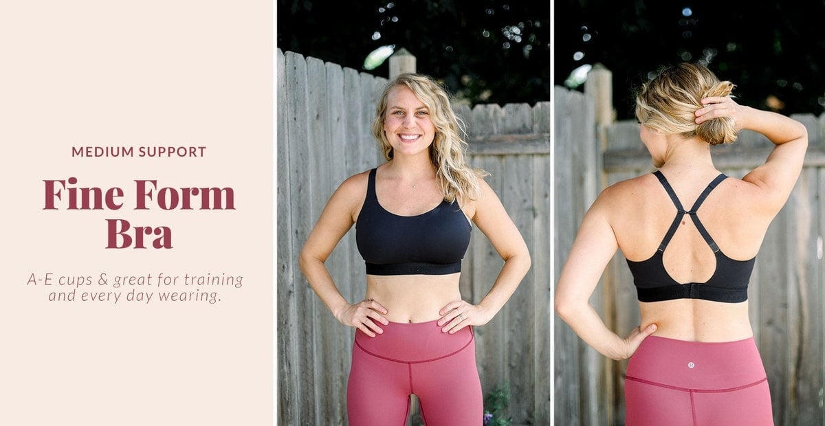 fine form sports bra from lululemon