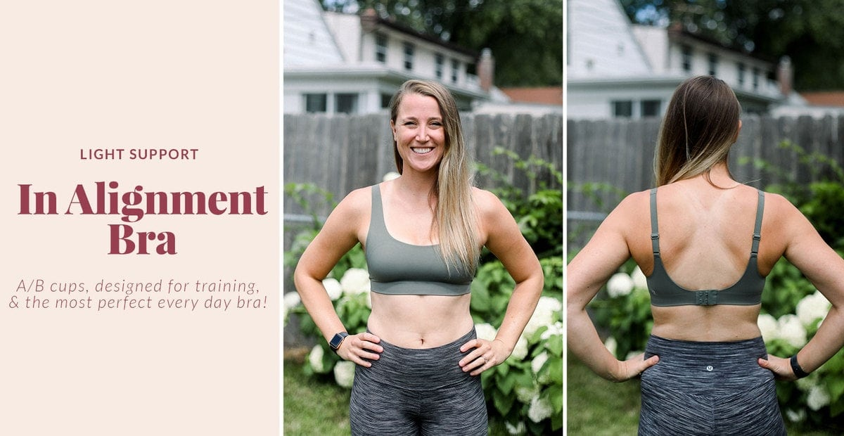 in alignment bra from lululemon that's great for everyday wear