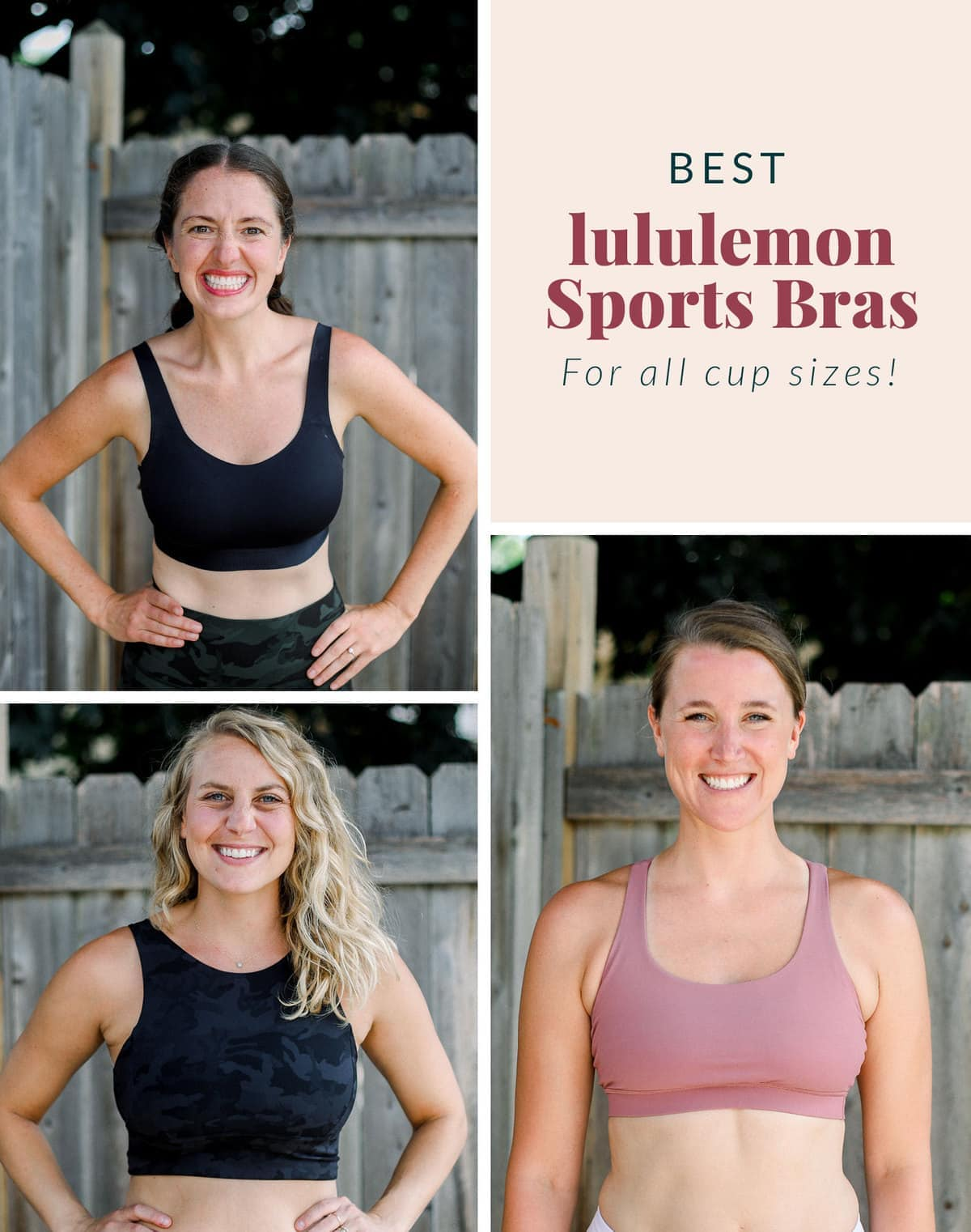 best lululemon sports bras for all cup sizes