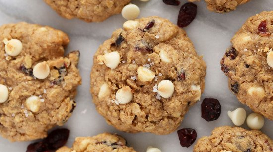 healthy cookies with white chocolate chips
