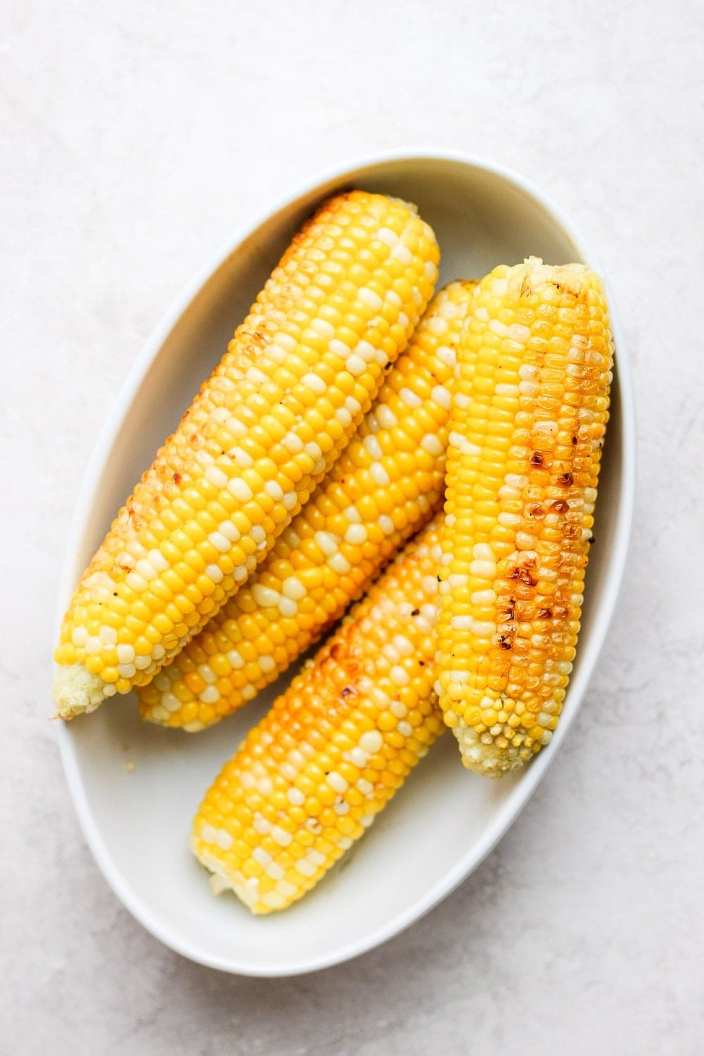 grilled corn on the cob after it has been grilled