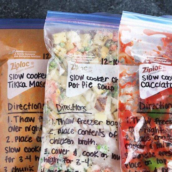 freezer meals in bags